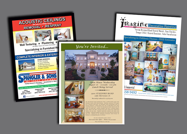 High quality glossy color flyers.